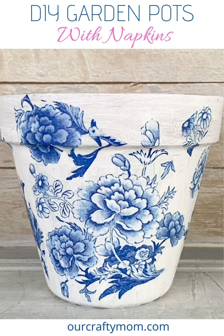 blue and white chinoiserie garden pot