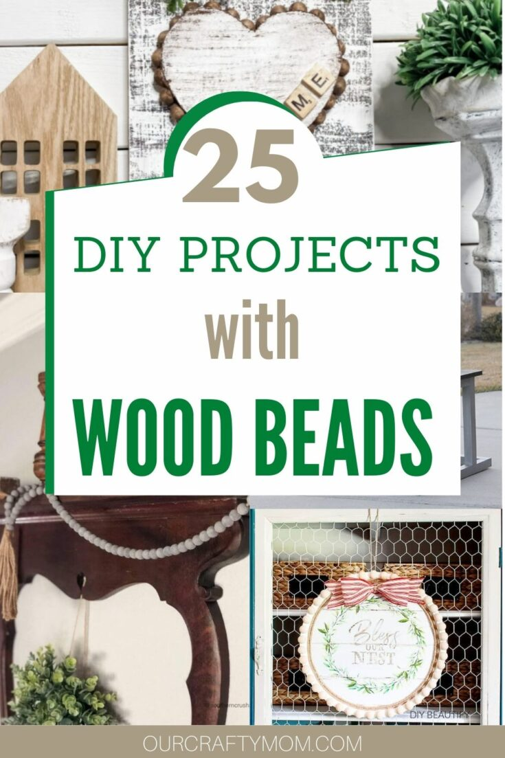 wood bead crafts collage
