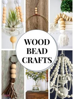 wood bead crafts pin collage with text overlay