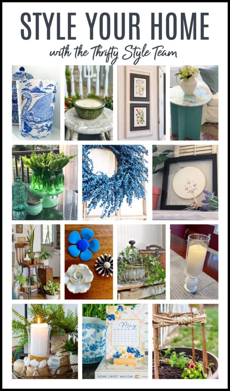 style your home thrifty style team diy projects collage with text overlay
