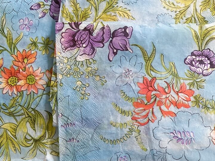 close up of napkins