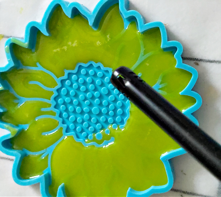 using lighter to remove bubbles
