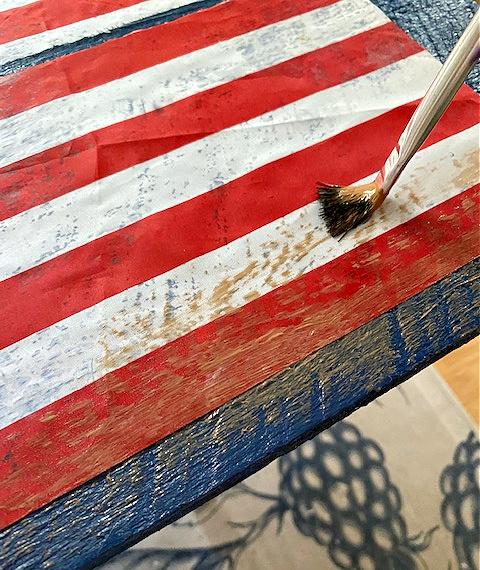 fabric paint on flag