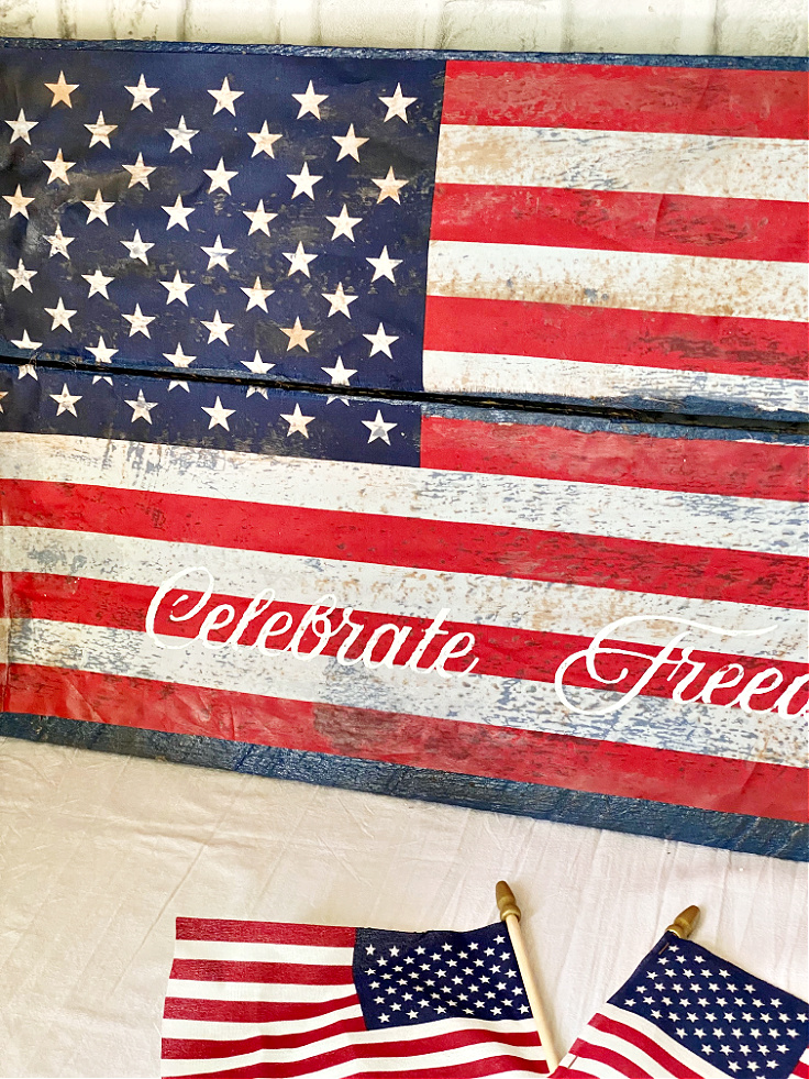 How To Makefinished DIY Pallet Wood American Flag Sign