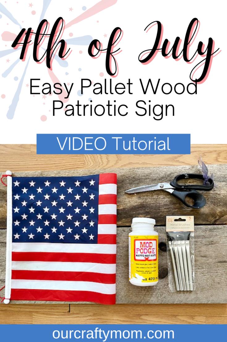 pallet wood patriotic flag sign supplies
