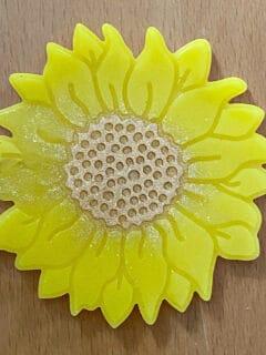 sunflower on wood background
