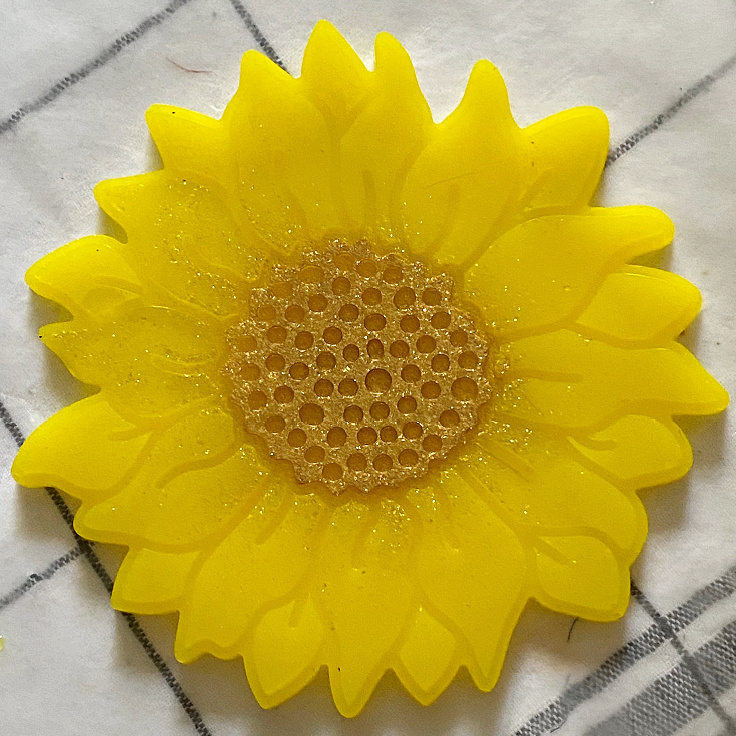finished resin sunflower