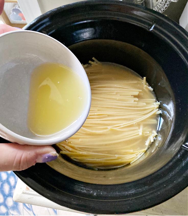 lemon juice in pasta