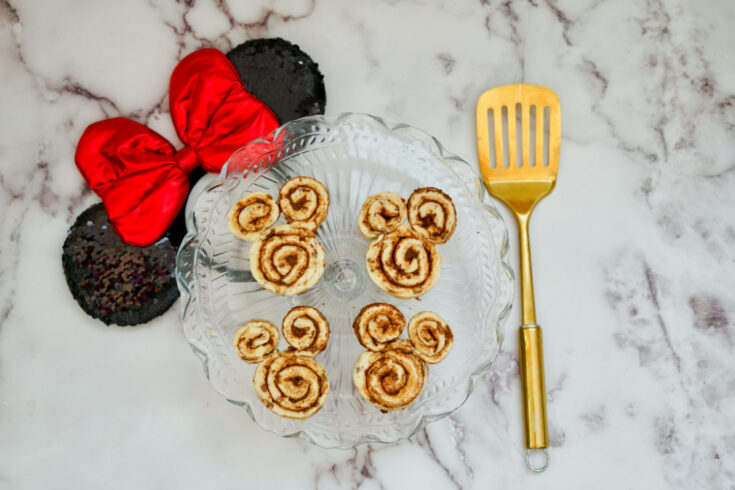 air fryer mickey mouse cinnamon rolls before frying