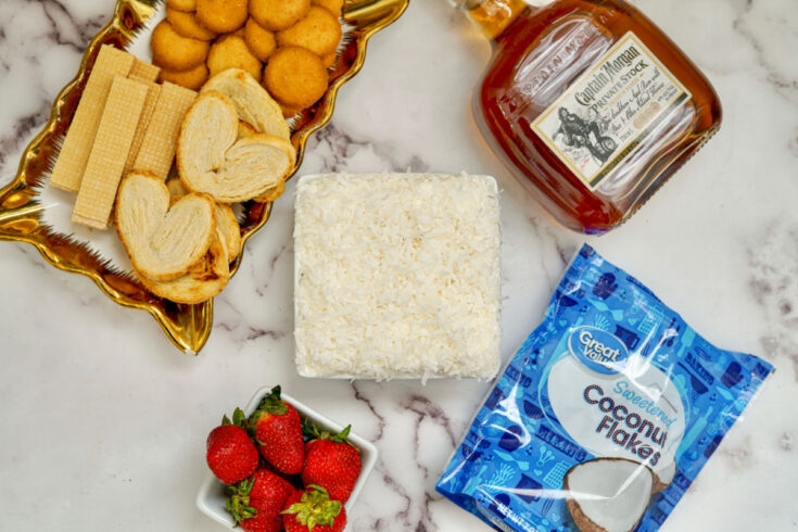 ingredients for pina colada dip