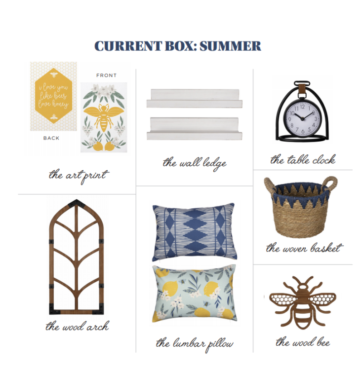 items included in decocrated summer box