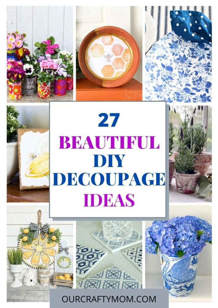 diy decoupage craft ideas pin collage with text
