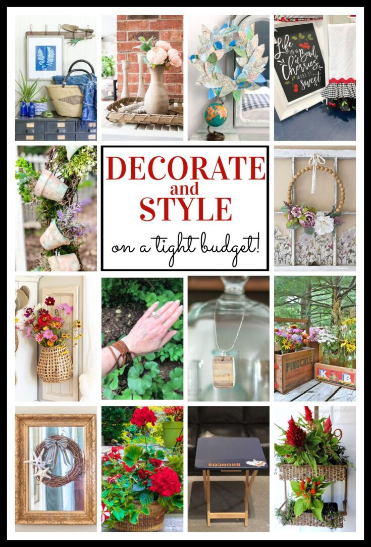 thrifty style team decorate and style diy ideas pin collage