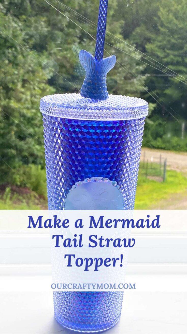 starbucks summer tumbler with mermaid resin straw topper