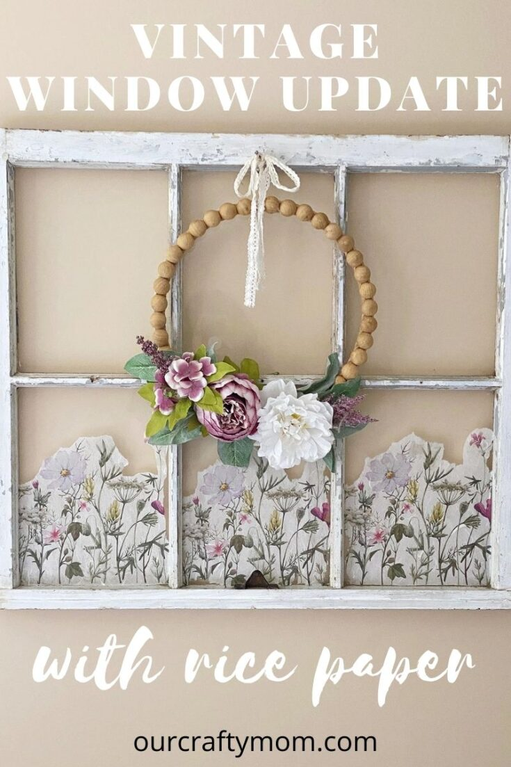 Cottage Core Old Window Wall Decor pin image