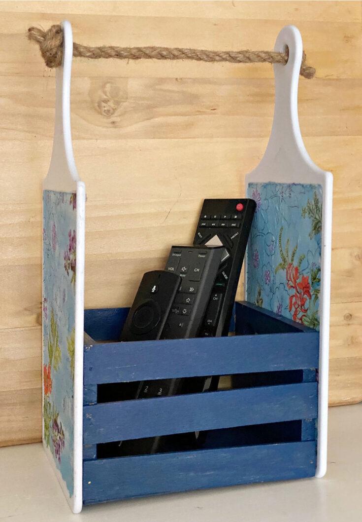remotes used in DIY Dollar Tree Cutting Board Craft