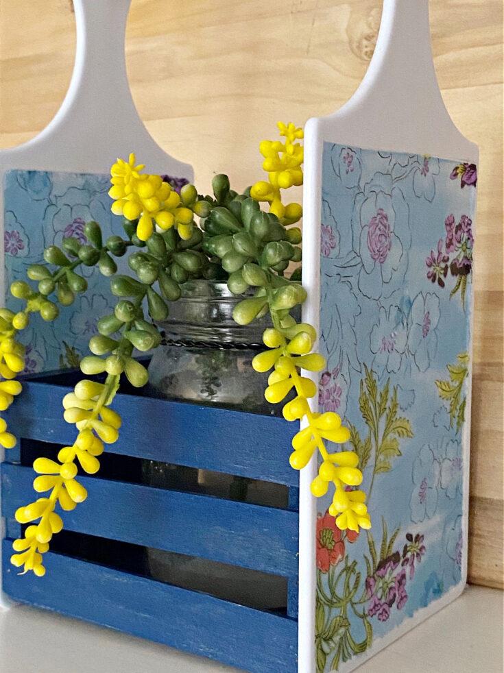 succulent in DIY Dollar Tree Cutting Board Craft