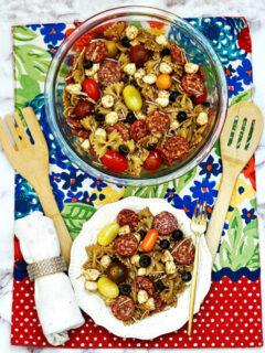 Balsamic Pasta Salad feature image