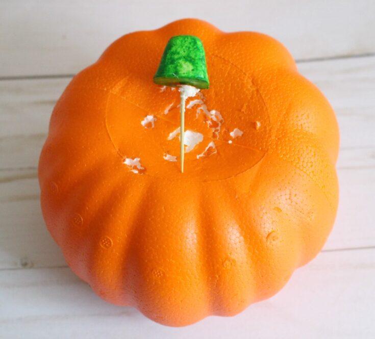 dollar store foam pumpkin
