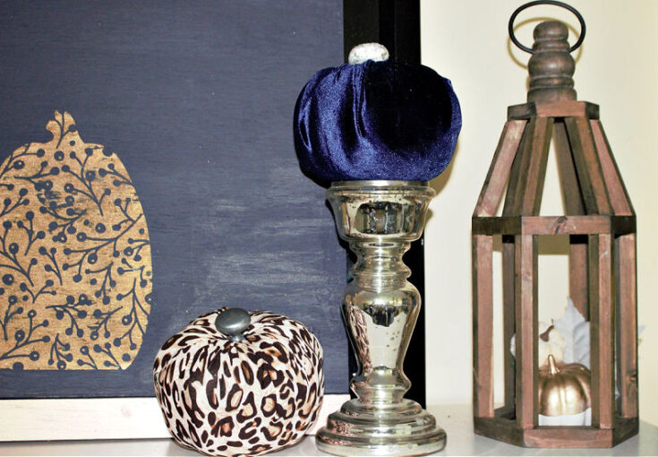 diy leopard pumpkins fall mantel
