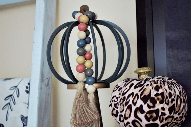 fall wooden beads decocrated