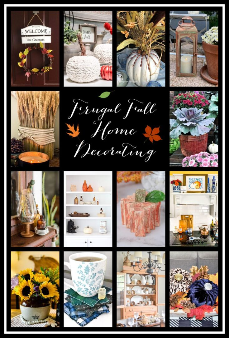 frugal fall home decor