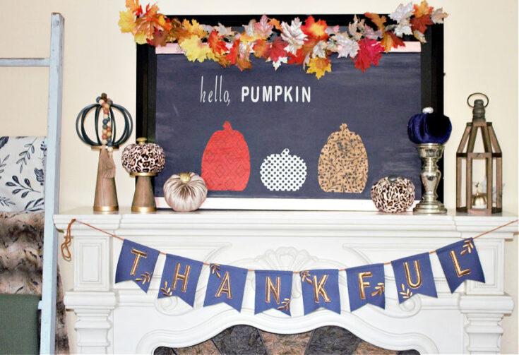 thankful fall banner