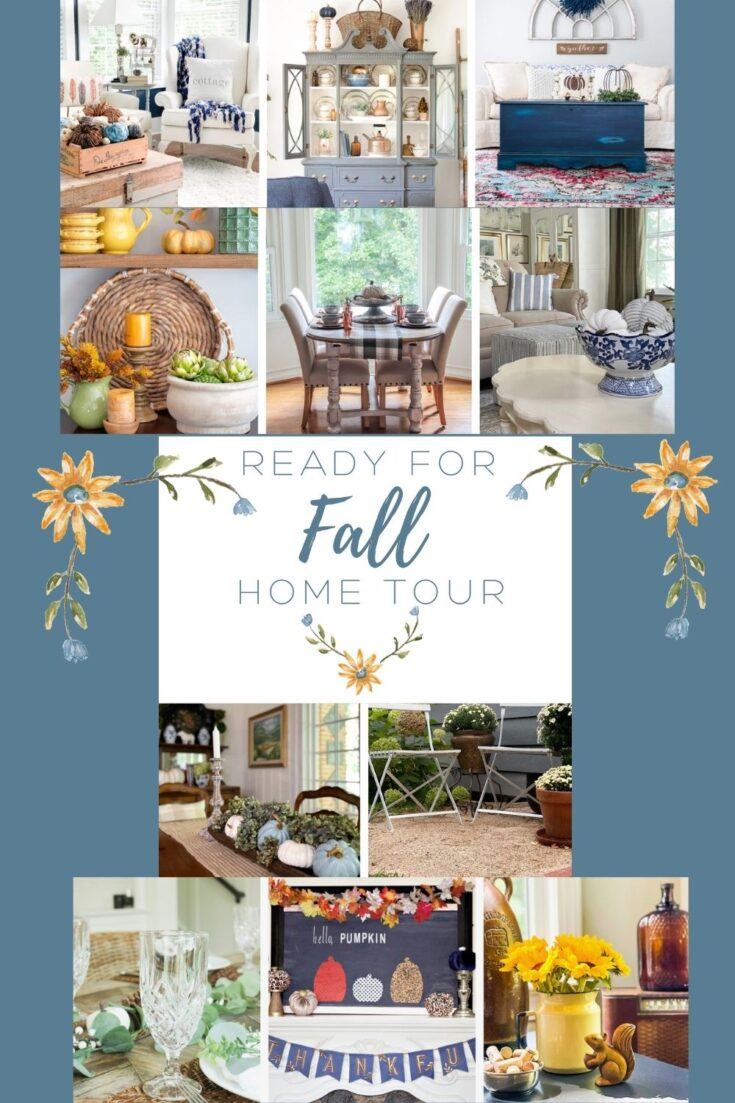 ready for fall home tour pin collage with text overlay
