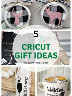 five cricut gift ideas pin collage with text