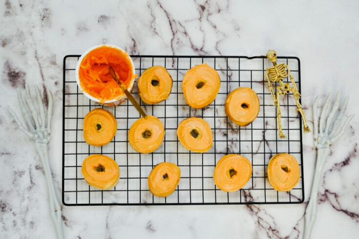 donuts before frosting