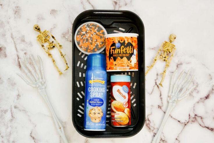 ingredients for air fryer Halloween donuts