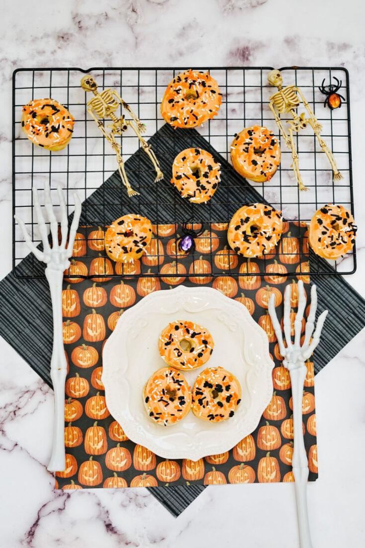 3 ingredient Halloween donuts