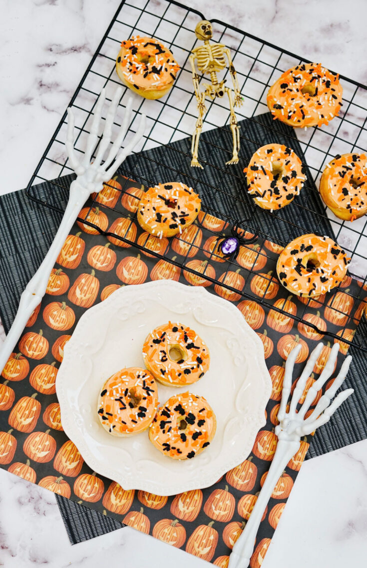 Halloween donuts on counter