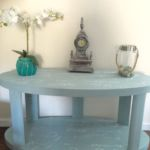 French Poem Chalk Painted Sofa Table