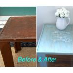 Refinished Table Before and After