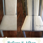 Painted fabric grain sack chair